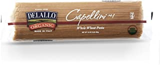 DeLallo Organic Whole-Wheat Capellini Pasta