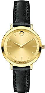 Movado Ultra Slim Gold Dial Ladies Watch 0607158