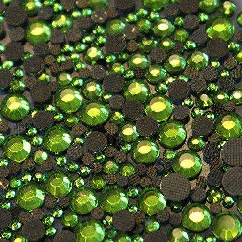 100 Gros Strass S20 hotfix Ø 5mm Bling Couleur n°128 Vert