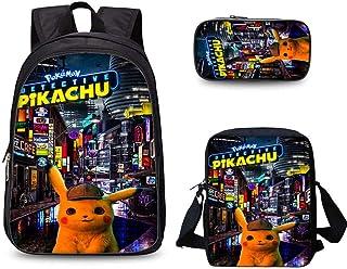 Mochila Para Niños Dibujos Animados Impreso Pikachu Juego Anime 15.6 Pulgadas Bolsa De Ordenador, Mochila
