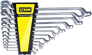 Jogo de Chaves Estrelas em Cromo Vanádio com 12 peças - H203790 - Strom