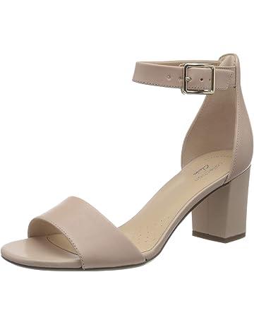30i14 Ladies Black Leather /'Emotion/' Heeled Court Shoes UK 10/&11