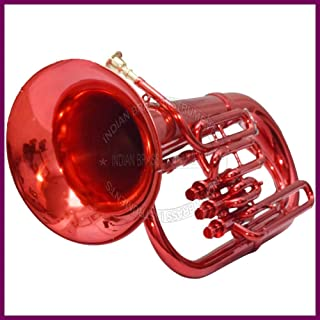 RED LACQUERED EUPHONIUM Bb PITCH FOR SALE WITH FREE BAG AND MOUTHPIECE