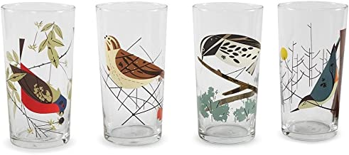 Charley Harper Birds Glasses, Box of 4
