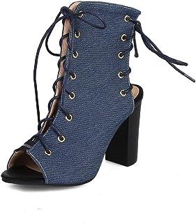 BalaMasa Womens ASL06274 Pu Block Heels