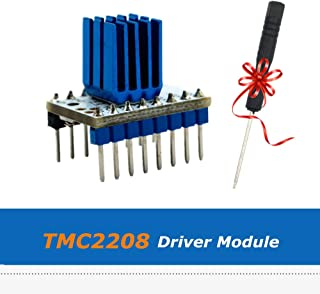 5PCS ASHATA TMC2208 V1.2 Stepstick Stepper Motor Driver Carrier,Mute Silent Driver Module,with Heat Sink Screwdriver,Ultra-Quiet Two-Phase Stepper Motor Driver Chip