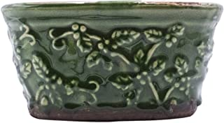 Swan Creek Gingerbread Holiday Pottery Round Pot Candle (Color: Green)
