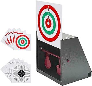 GearOZ BB Trap Target, Paper Target and Resetting Metal Silhouettes Shooting Targets for Pellet Gun Airsoft BB Gun