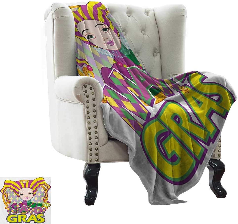 3a4015f22 LsWOW Patterned Blanket Mardi Mardi Mardi Gras,Carnival Girl in ...