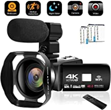 Camcorder Video Camera 4K 48MP WiFi YouTube Camera Night Vision Camcorder Blogging Camera..