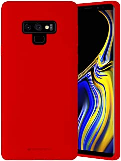 Goospery Liquid Silicone Case for Samsung Galaxy Note 9 (2018) Jelly Rubber Bumper Case with Soft Microfiber Lining (Red) NT9-SLC-RED