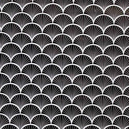 Paris Prix - Rouleau Adhésif Art Déco 45x200cm Noir & Transparent