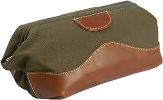 حقيبة جلد وقماش كريستال كيف من كانيون أوتباك ليذر جودز، لون أخضر، مقاس واحد