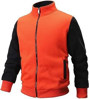 IFOUNDYOU Men's Lightweight Zipper Sportswear Patchwork Jacket Tracksuits Sweatshirt,Autumn Winter Outwear Warm Jacket&Coa...