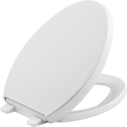 Kohler Grip-Tight Reveal Q3 Asiento para inodoro, Elongated Toilet Seat, Blanco