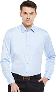 Lamode Men's Solid Silver Baby Blue Formal SHIRT982