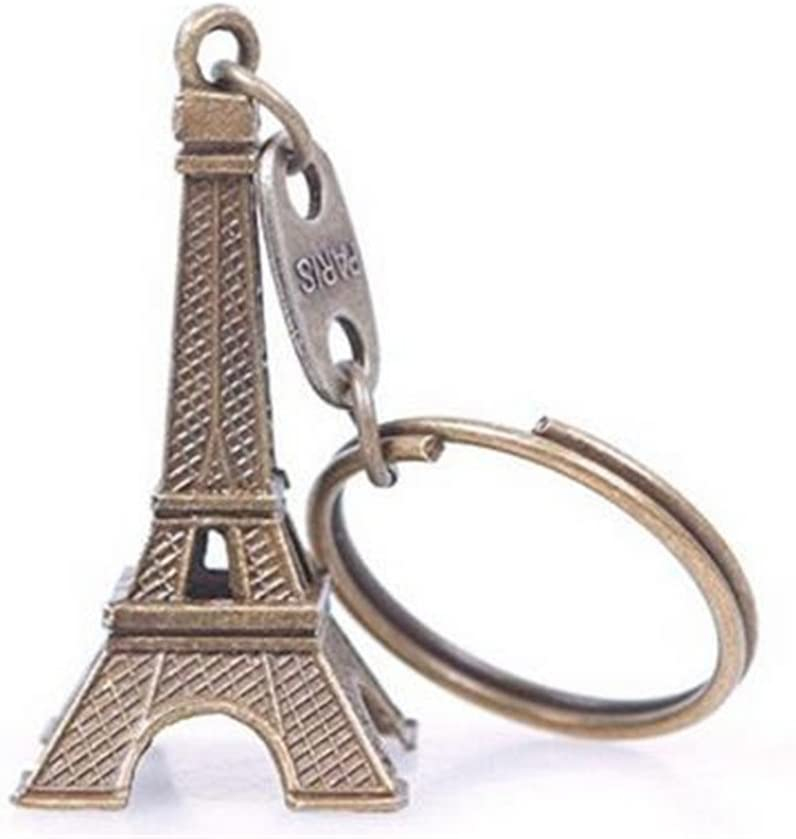 Weahre Keychain, Style Vintage Style Eiffel Tower Keychain Keyring,French Souvenir Paris,Couples Romantic Keychain Lover Gift