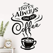 Er is altijd tijd Koffie Wall Art Keuken Stickers Teken Decoratie Decal Cup Vinyl Tegel Verwijderbare Adhesive Decor Quote...
