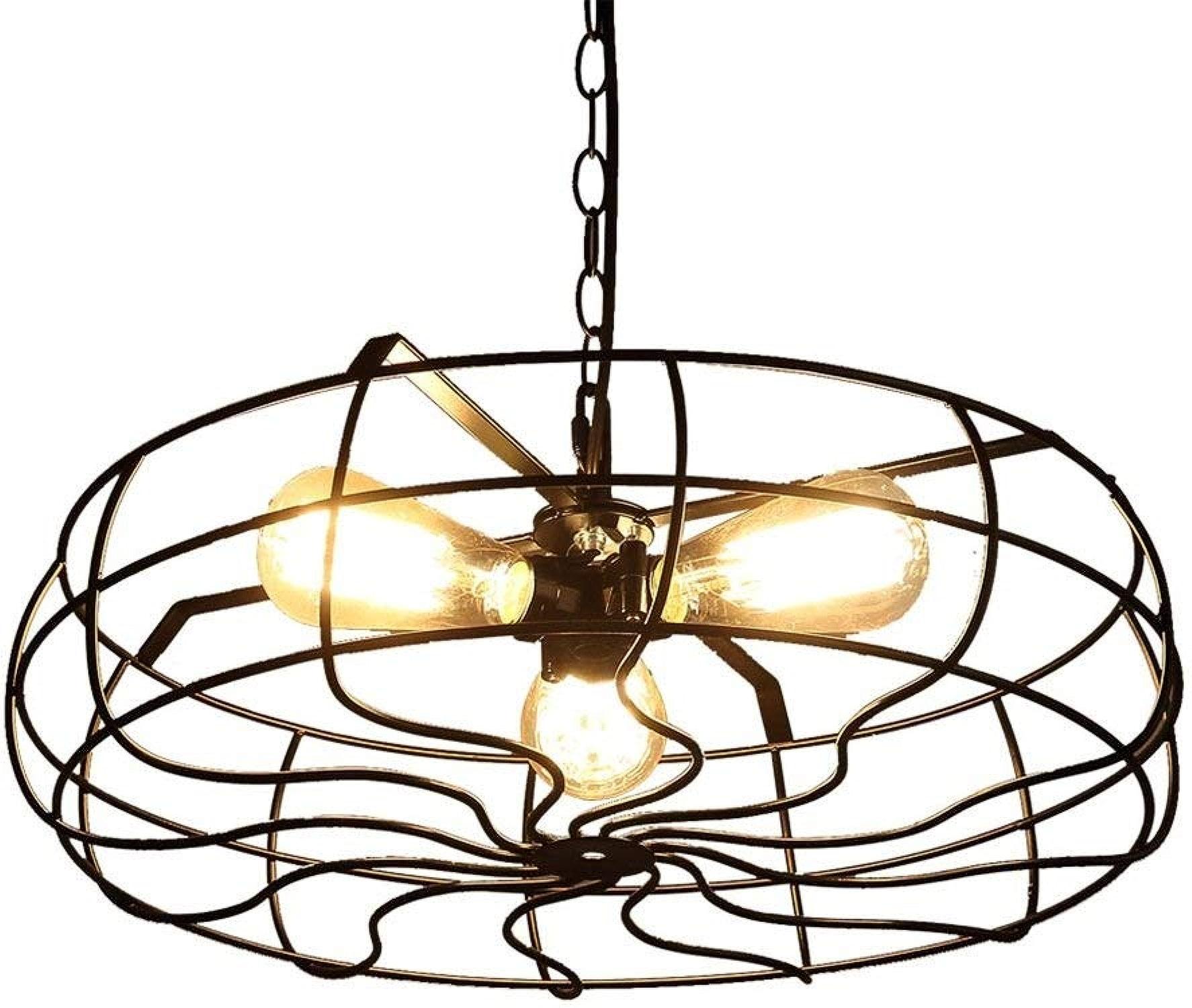 FR Le pendentif de lustre allume le lustre industriel de fan de loft industriel for le restaurant de café de salon