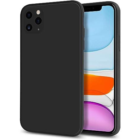 CYCOKLY i-Phone 11 pro ケース 2020 新型 肌感 ケース レンズ保護 裏面さらさらガラス 放熱 指紋防止 全面保護 耐衝撃カバー 写真復元 Qi急速充電対応 日本素材制 (ブラック)