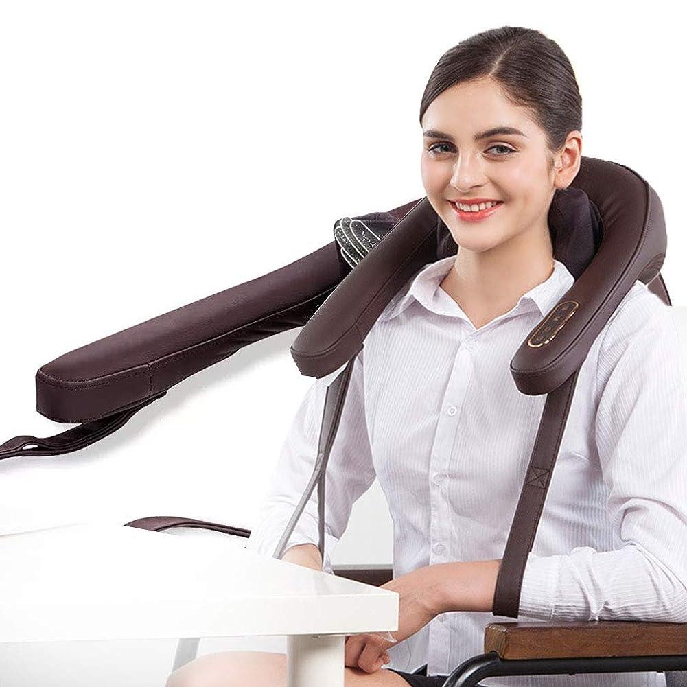 先例慣れる珍味多機能マッサージャー、 熱と調節可能な強度ディープティシュー3D混練で首と背中のマッサージ車のホームオフィスの使用で筋肉痛の緩和を和らげる