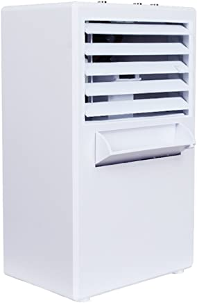 FITFIRST Portable Air Conditioner Fan, 3 in 1 Personal Space Air Cooler, Humidifier, Purifier, Desktop Cooling Fan Personal Table Fan Used for Office Home Kitchen