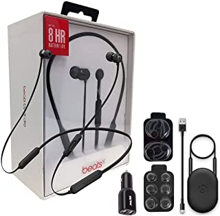 Beats by Dr. BeatsX Wireless in-Ear Headphones - Black - with Dual Car Adapter & Ear Gel,Lighting USB Kit (Renewed)