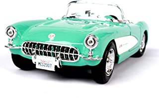 WHR-HARP Maquetas de Coches Antiguos, 1/24, Juguete de Fundición a Presión de Aleación de Modelo de Automóvil Clásico, Puerta Extraíble, Automóvil de Colección en Miniatura, Decoración del Hogar,Blue