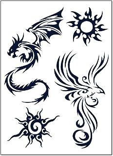 glaryyears Semi Permanent Tattoo Aufkleber — 9 Blatt/Set T
