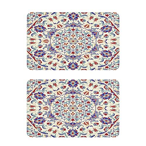 Hunihuni - Imán para nevera, diseño de mandala islam árabe indio, imanes decorativos para el hogar, cocina, taquilla, oficina, pizarra, juego de 2