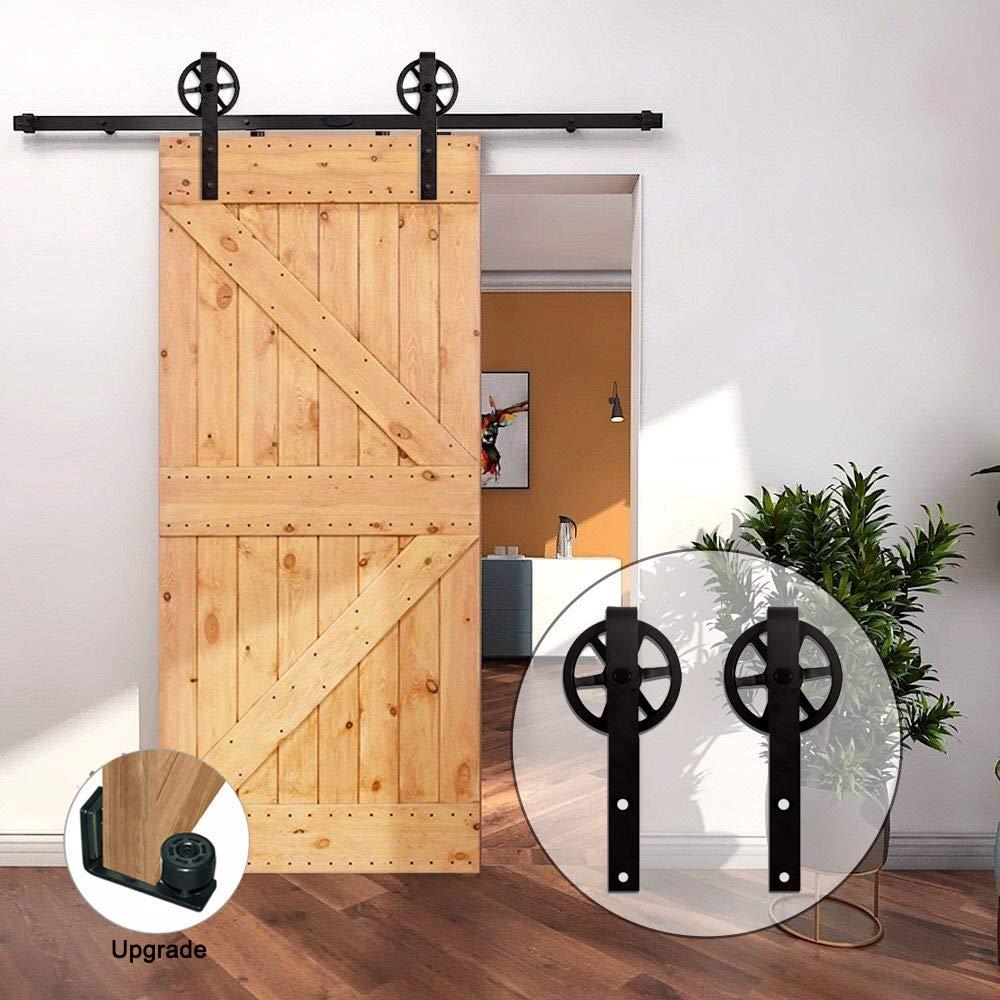 CCJH 201CM/6.6FT Herraje para Puerta Corredera Kit de Accesorios riel, Guía de suelo ajustable: Amazon.es: Bricolaje y herramientas