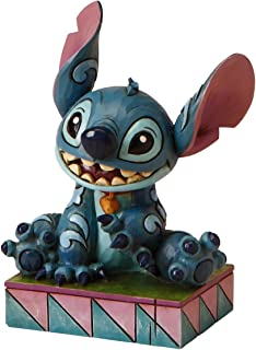 """Disney Traditions by Jim Shore """"Lilo and Stitch"""" Stitch Personality Pose Stone Resin Figurine, 3.75"""""""
