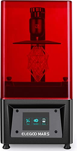 ELEGOO Mars UV Photocuring LCD 3D Printer with 3.5'' Smart Touch Color Screen Off-line Print 4.53in(L) x 2.56in(W) x ...