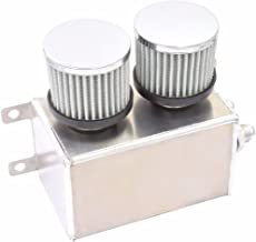 1200ml 1.2L Twin Baffle Dual Filter Engine Oil Catch Can Tank Reservoir AN8 (Polished)