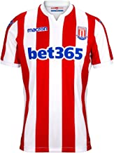 Macron Stoke City Home Jersey 2018 2019 Mens Red/White Football Soccer Shirt Top