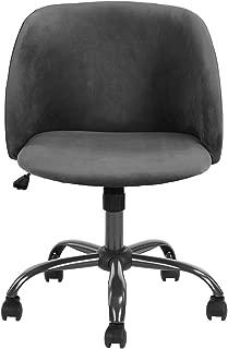 HOUSEINBOX.COM Office Chair Velvet Soft-Pad Adjustable Height Swivel Metal Frame Modern Style