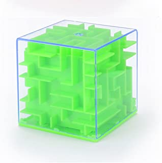 3D Three-Dimensional Maze Piggy Bank Puzzle Early Education Mazy Money Box Toy (Green)