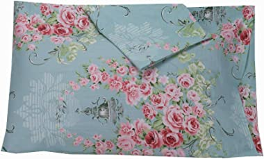 YIH Floral Pillowcase Covers Decorative Blue, 600 Thread Count 100% Cotton Standard Luxury Bedding Pillow Covers, 20 x 30 inc