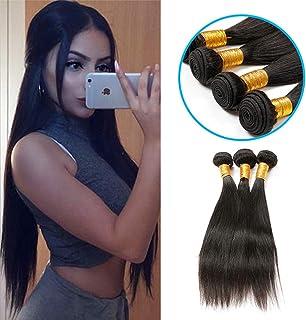 女性の髪織り130%密度ブラジルの髪1バンドルストレートヘア100%未処理のブラジルのバージンストレート人間の髪
