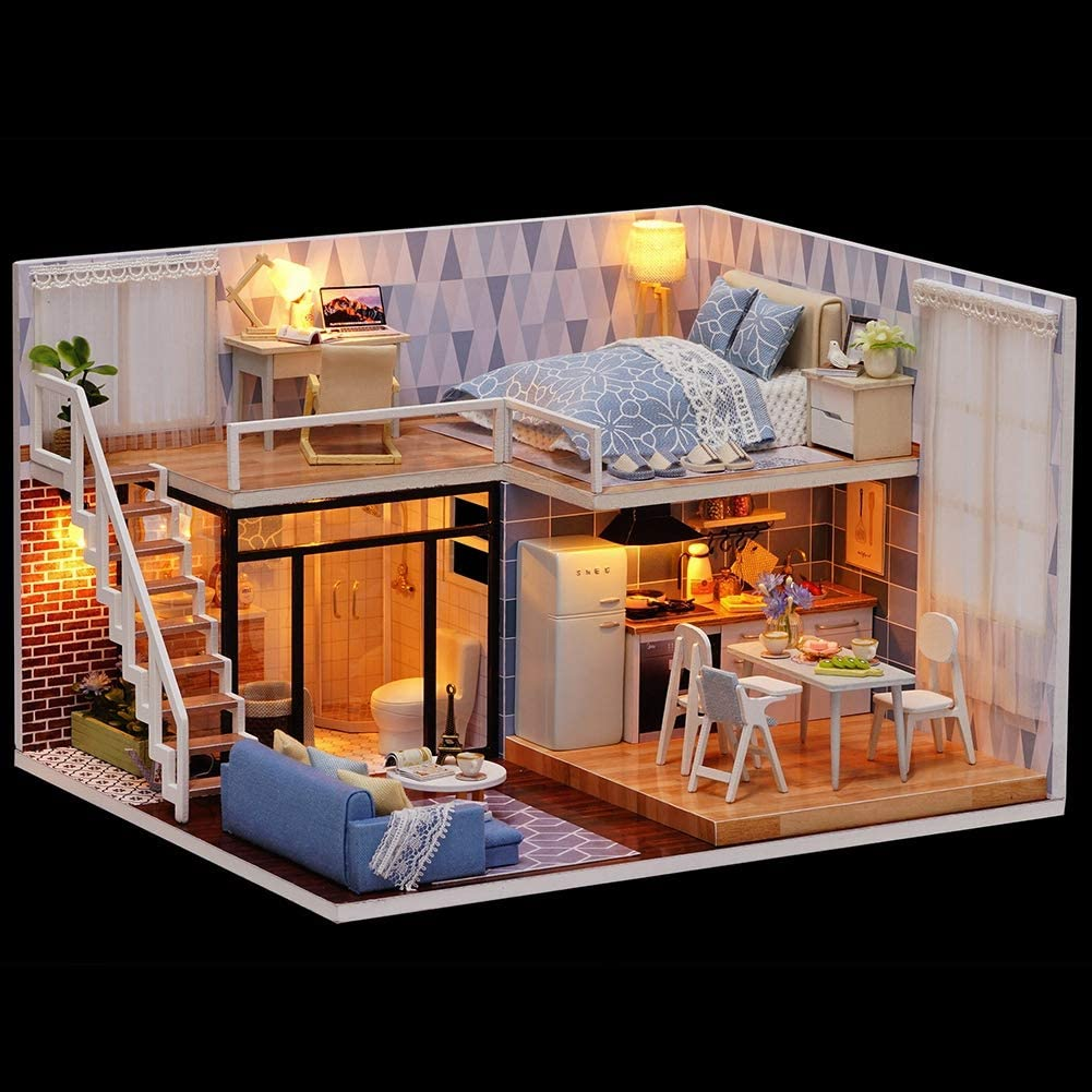Pinsofy 5% OFF with Music DIY House Dollhouse Miniature Colorado Springs Mall Perfect Gi