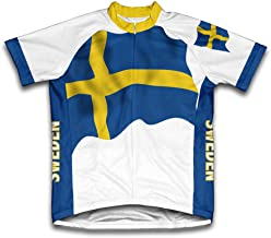 ScudoPro Sweden Flag Short Sleeve Cycling Jersey for Men