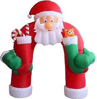 Kinsunny 11 Foot Tall Lighted Christmas Inflatable Santa Archway Yard Art Decoration