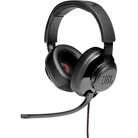 JBL Quantum 200 by Harman Wired Over-Ear Gaming Headset with Flip-up Mic & Discord Certified (Black)