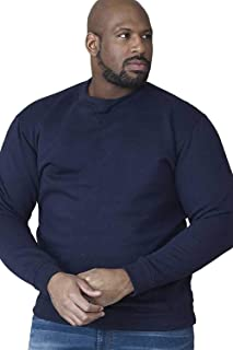 ROCKFORD CREW NECK POLY COTTON FLEECE SWEAT SHIRT (1616) SIZE 1XL TO 8XL, BLACK, GREY AND NAVY