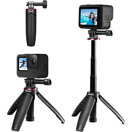 Ulanzi GoPro専用 自撮り棒 セルカ棒 3段伸縮 3way自撮り棒 伸縮一脚 三脚 ゴープロ用 DJI OSMO ACTION/OSMO POCKET用 アクションカメラ vlog アクセサリー