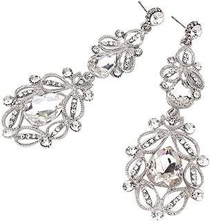 Clearance! Elogoog Charm Elegant Crystal Rhinestone Ear Stud Dangle Earrings for Women Girls