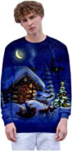 Sweatshirts Unisex GREFER Casual Crewneck Long Sleeve T-Shirts Christmas 3D Print Party Tops Lightweight Pullover