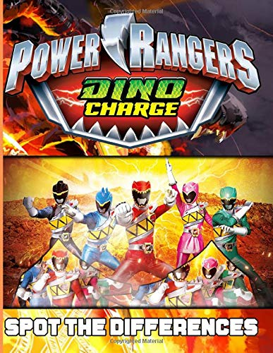 Power Ranger Dino Charge Spot The Difference: Power Ranger Dino Charge Premium Adults Activity Find The Difference Books