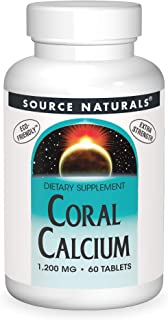 Source Naturals Coral Calcium 1200 Mg, 60 Tablets