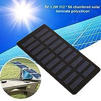 太陽電池の充電器、力の家の屋外DIYのプロジェクトのための太陽電池パネル5V 1.2Wの携帯用太陽電池